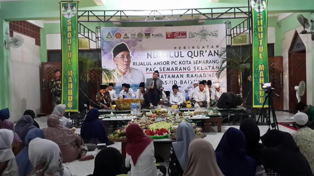 Nuzulul Quran PAC GP Ansor Semarang Selatan, Gus Huda Ingatkan Peran Auliya